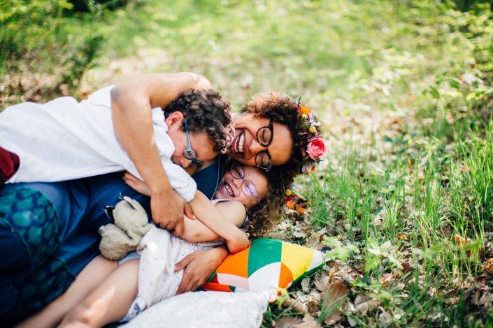 séance photo famille dans la forêt de Bouconne, Tououse 31