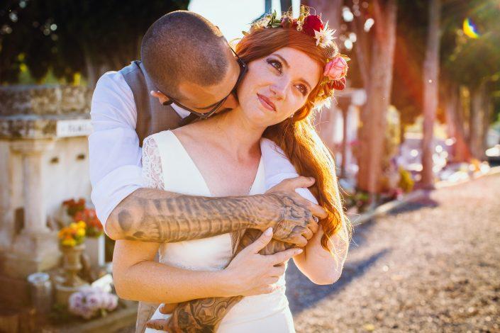 mariés tatoués, photographe mariage cool et original