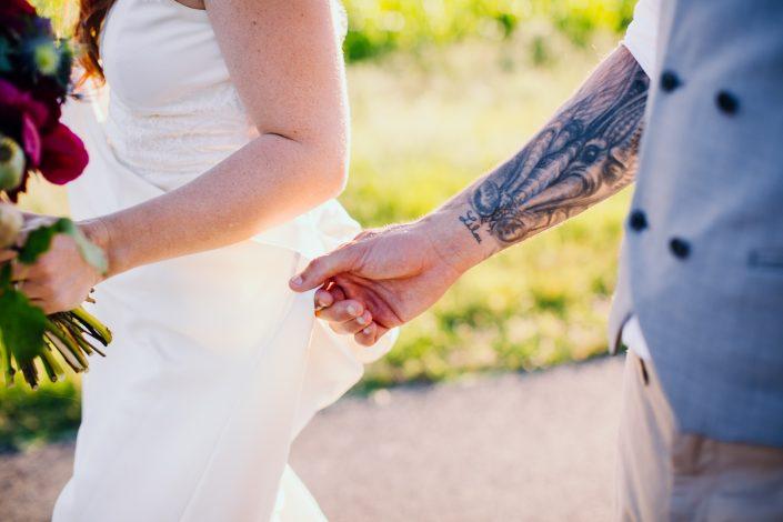photographe mariage toulouse original et mariés tatoués