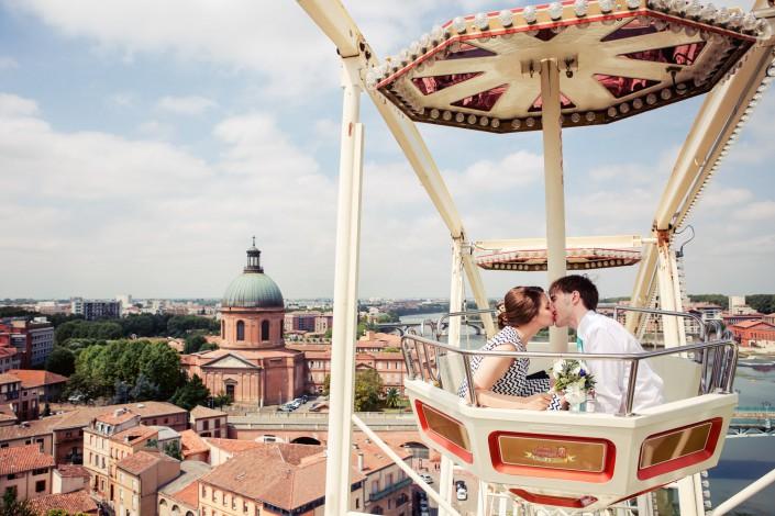 mariage grande roue et hopital Lagrave à Toulouse