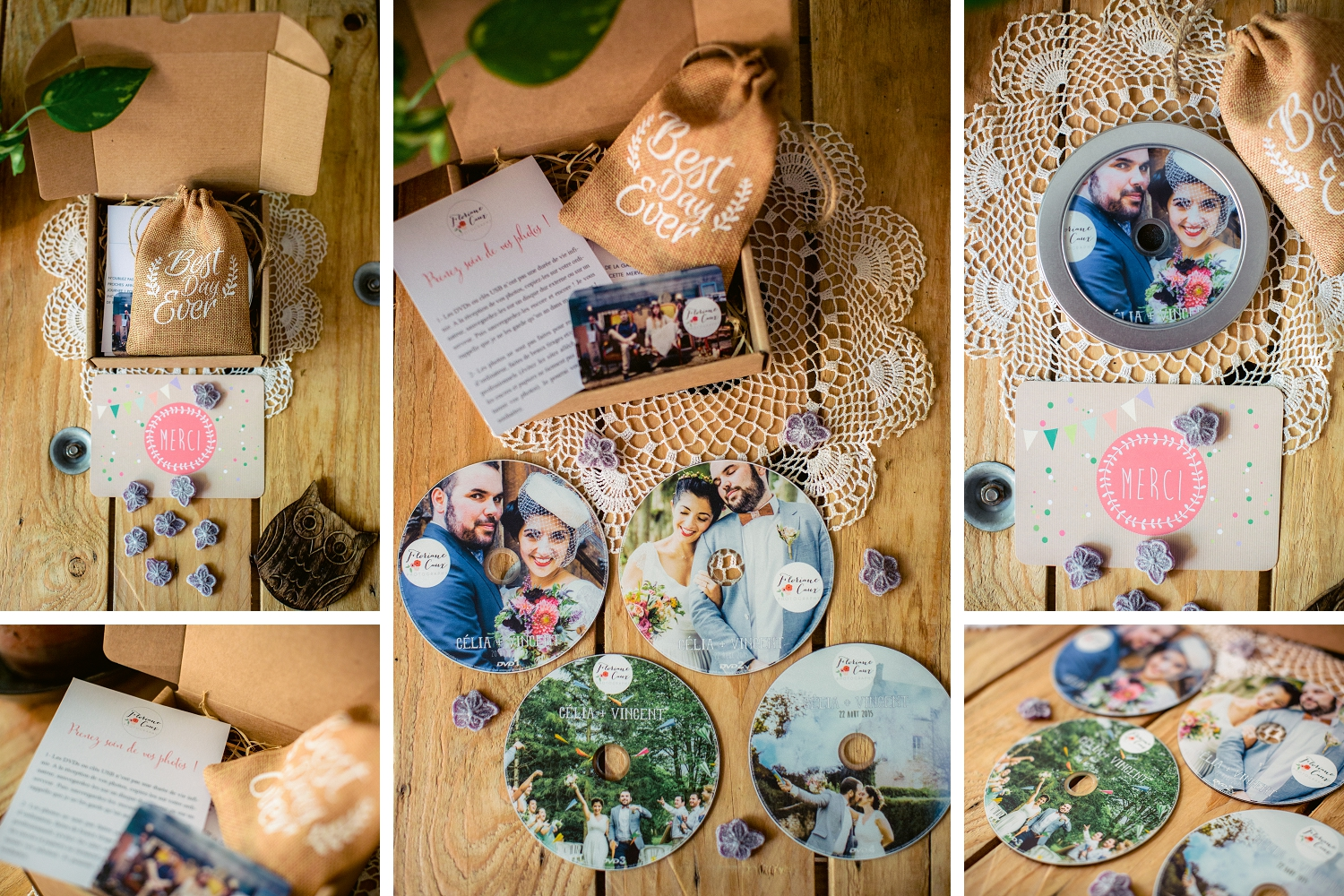 packaging dvd photographe mariage