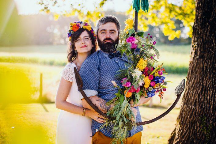 photographe mariage saint jean de luz rock'n'roll ancre fleurie par Kimua