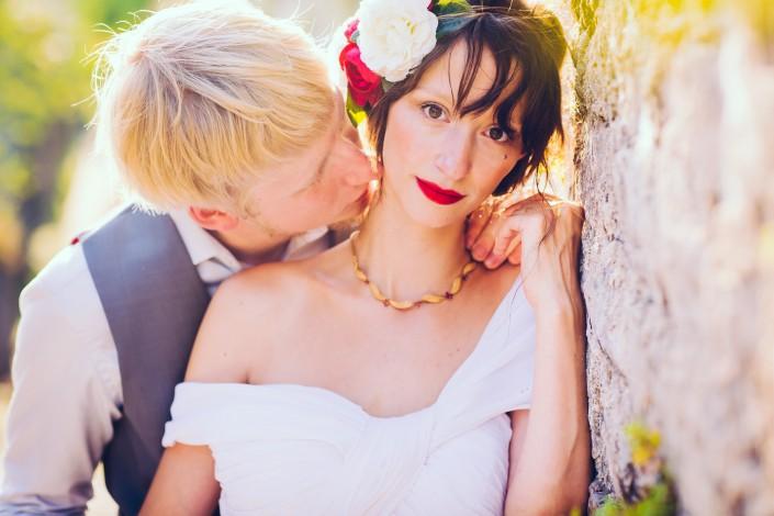 seance après mariage à cordes sur ciel
