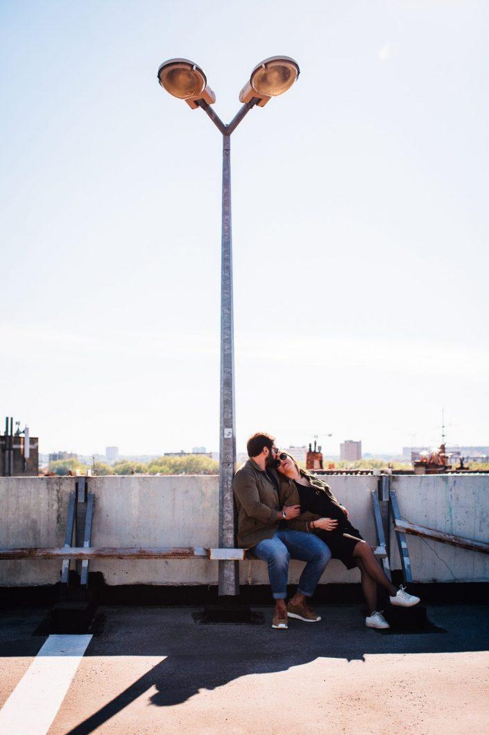 séance photo couple parking des carmes Toulouse