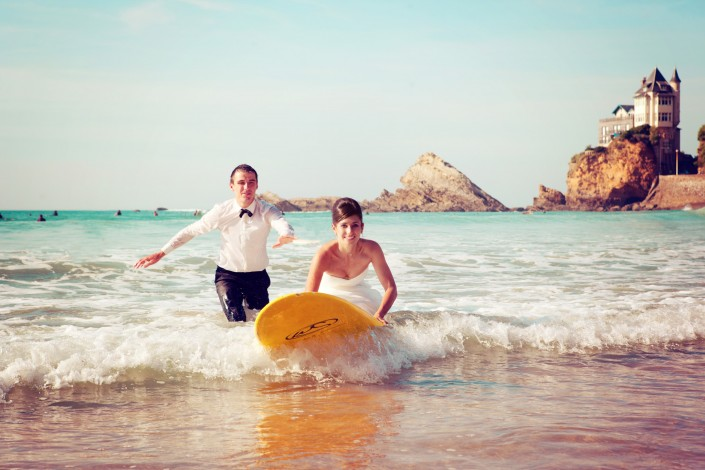 trash the dress mariée surf à biarritz