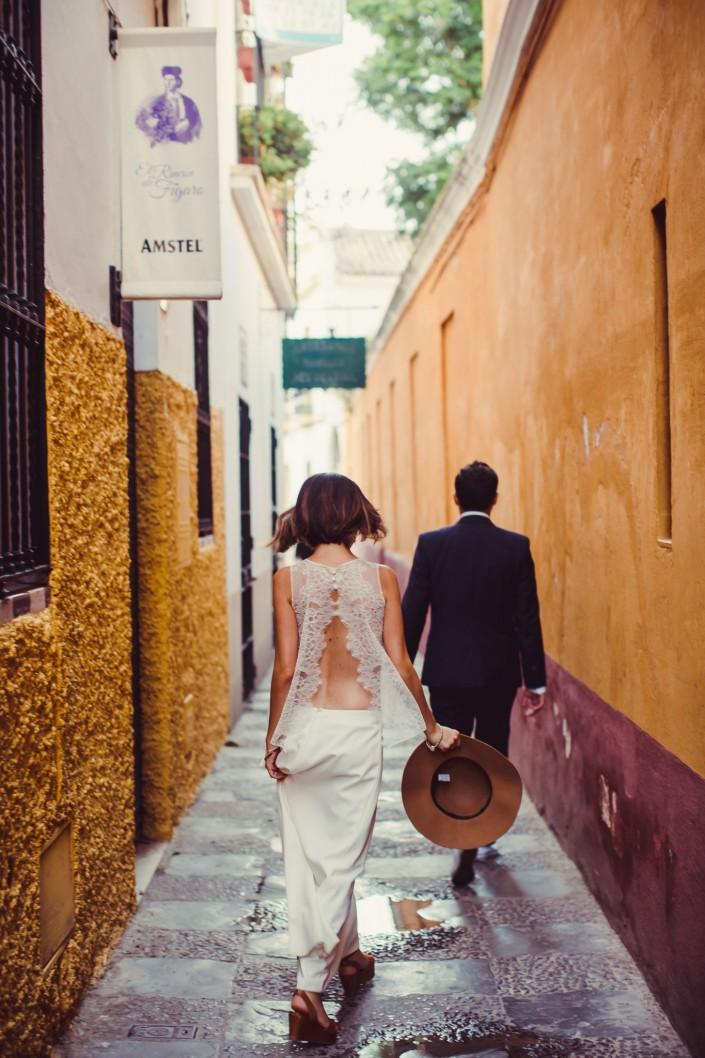 Trash the dress à Séville, Espagne
