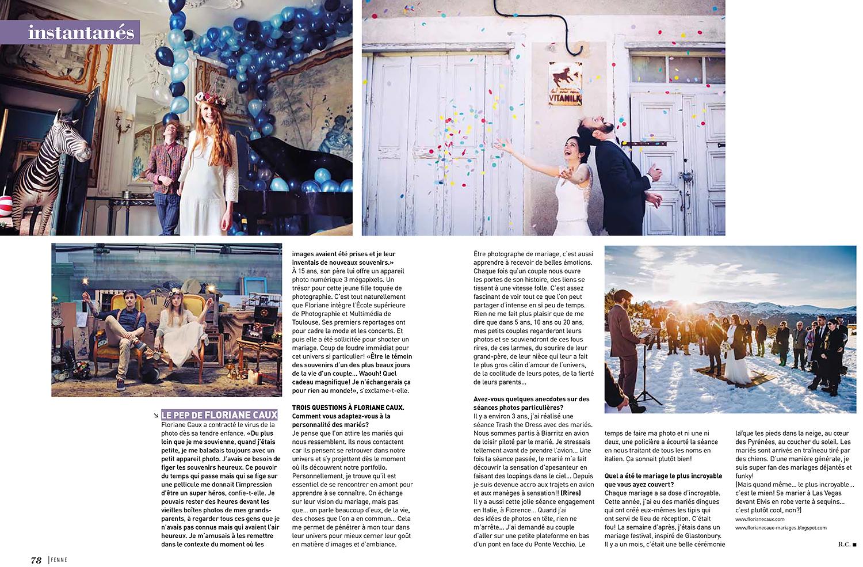 interview Floriane Caux, photographe de mariage originale