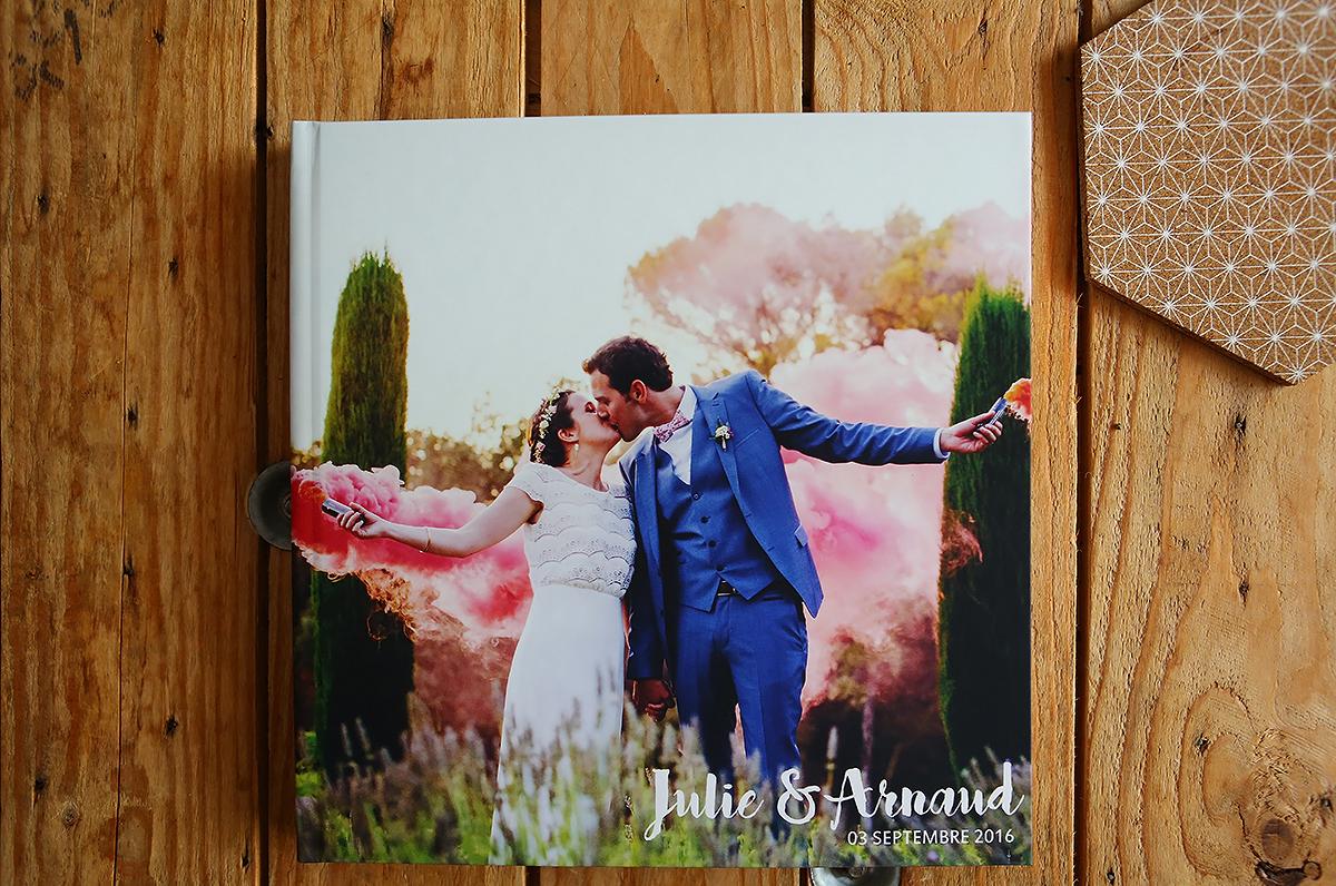 livre photo mariage avec couverture personnalisée