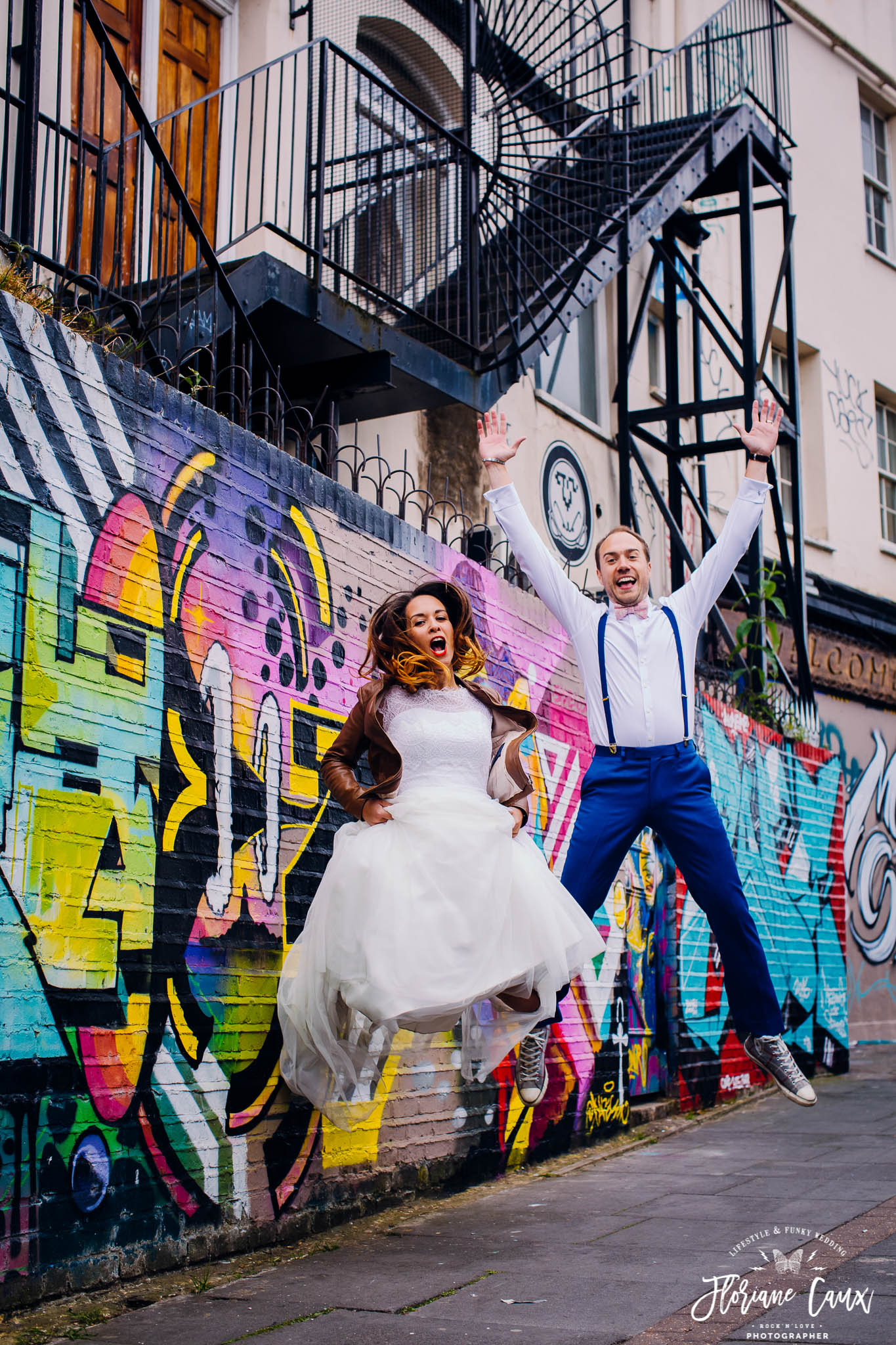 crazy trash the dress in Brick Lane London