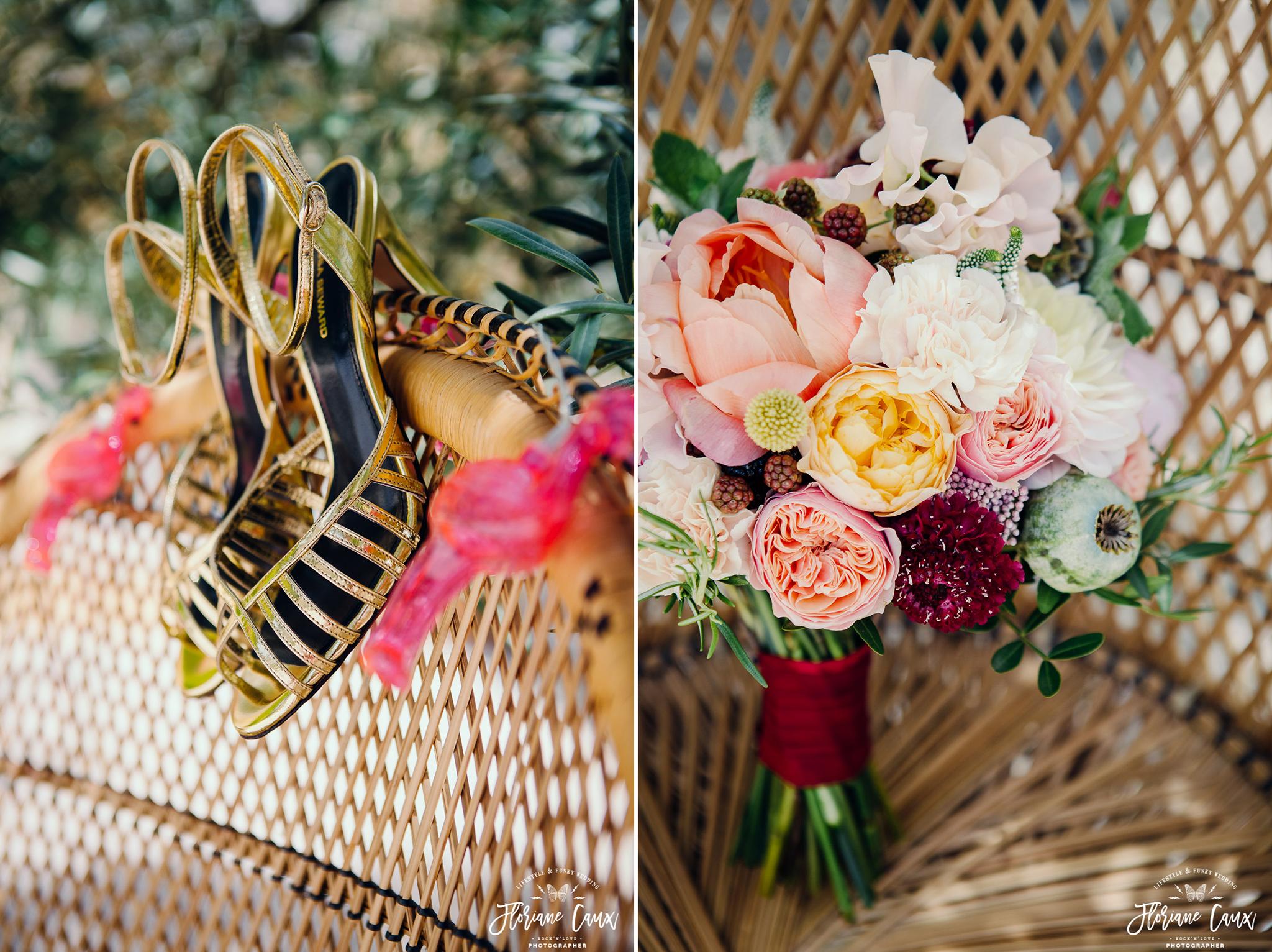 bouquet de mariée au Domaine de Blanche Fleur