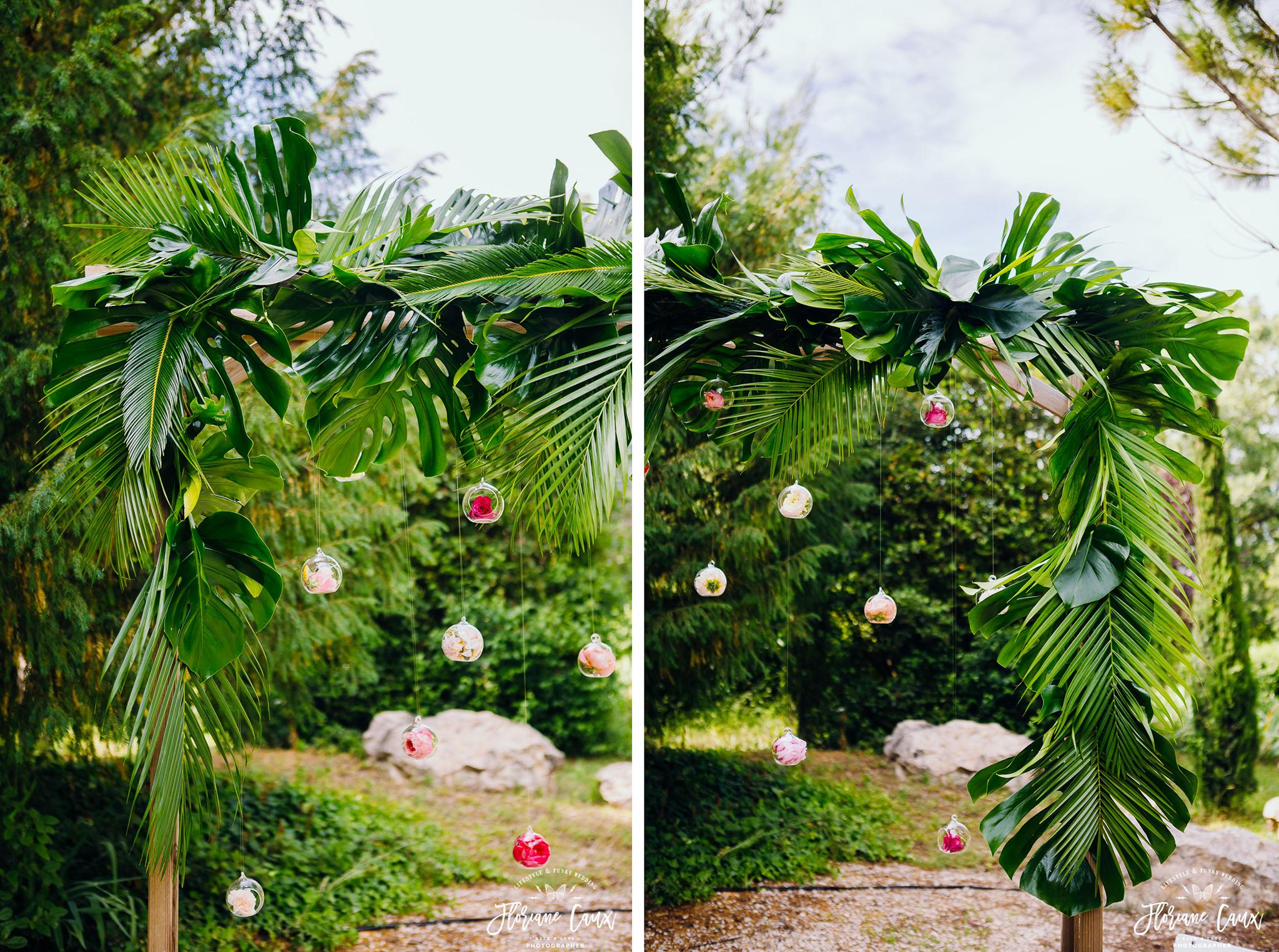 arche de cérémonie laïque par Poppy Figue fleuriste à toulouse