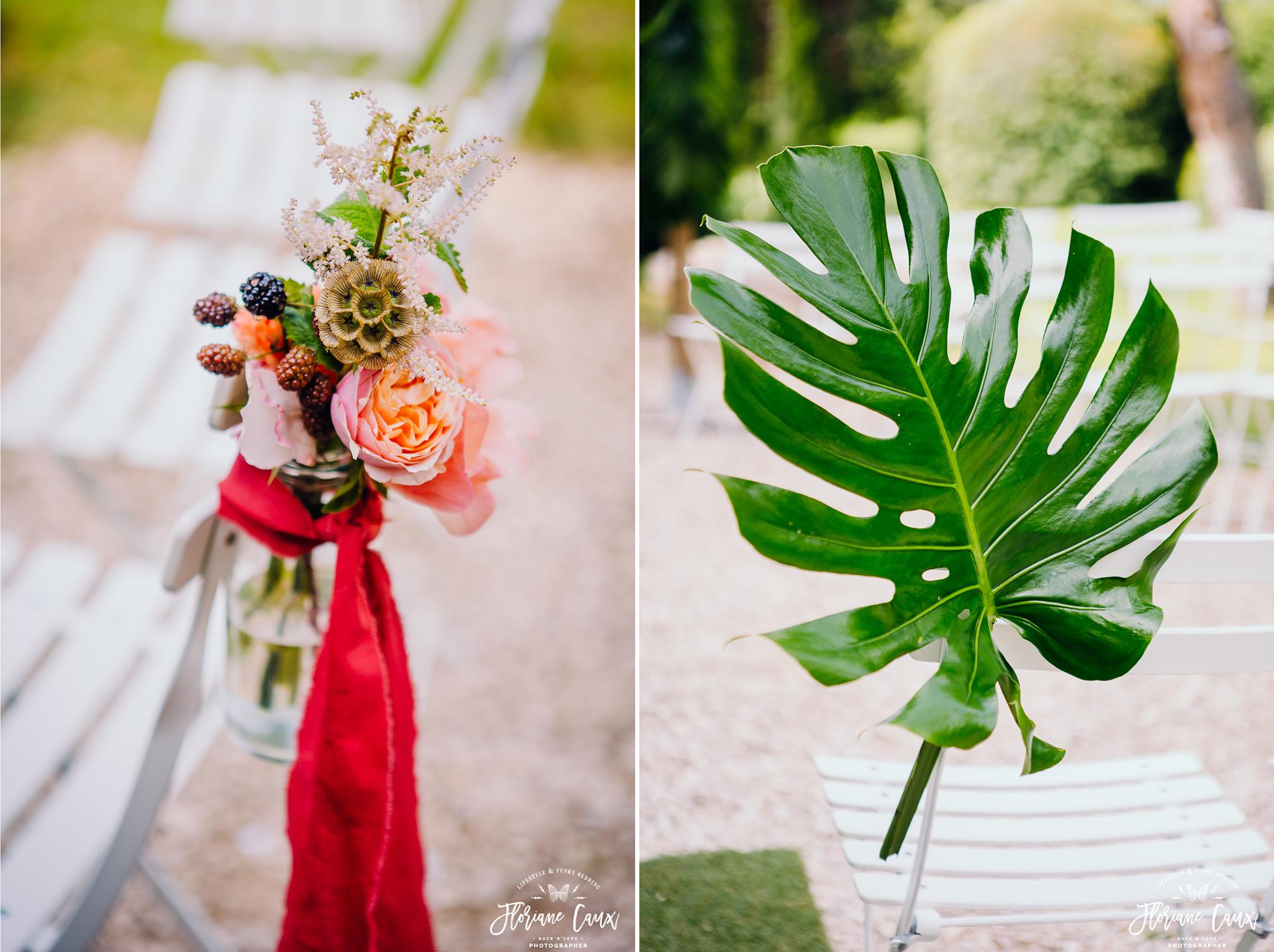 décoration florale de cérémonie laïque par Poppy Figue