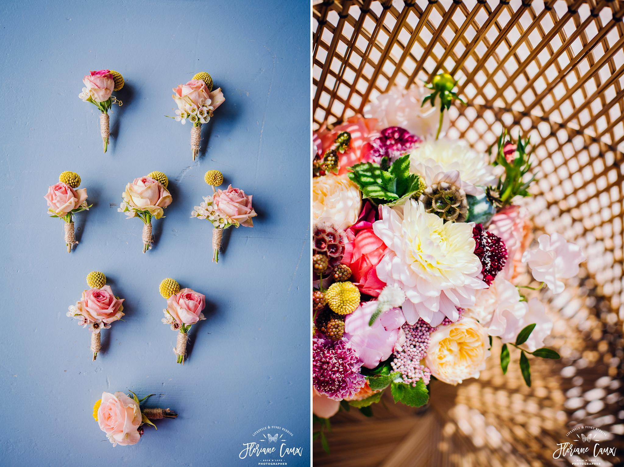 mariage tropicool à avignon, fleurs de Poppy Figue
