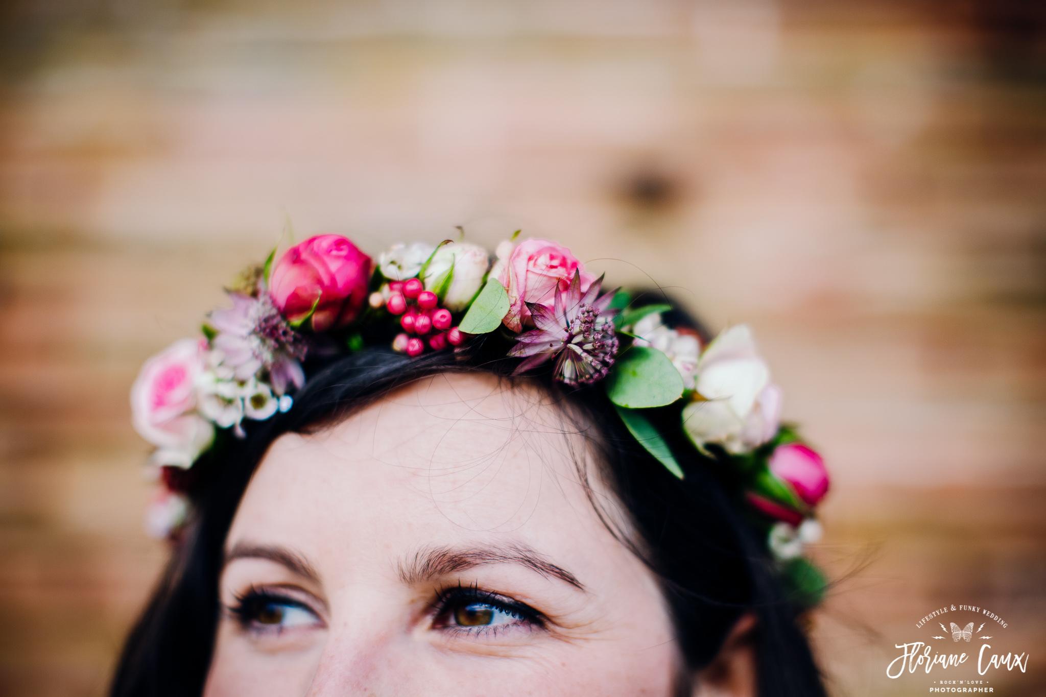 couronne de fleurs mariage toulouse Poppy Figue
