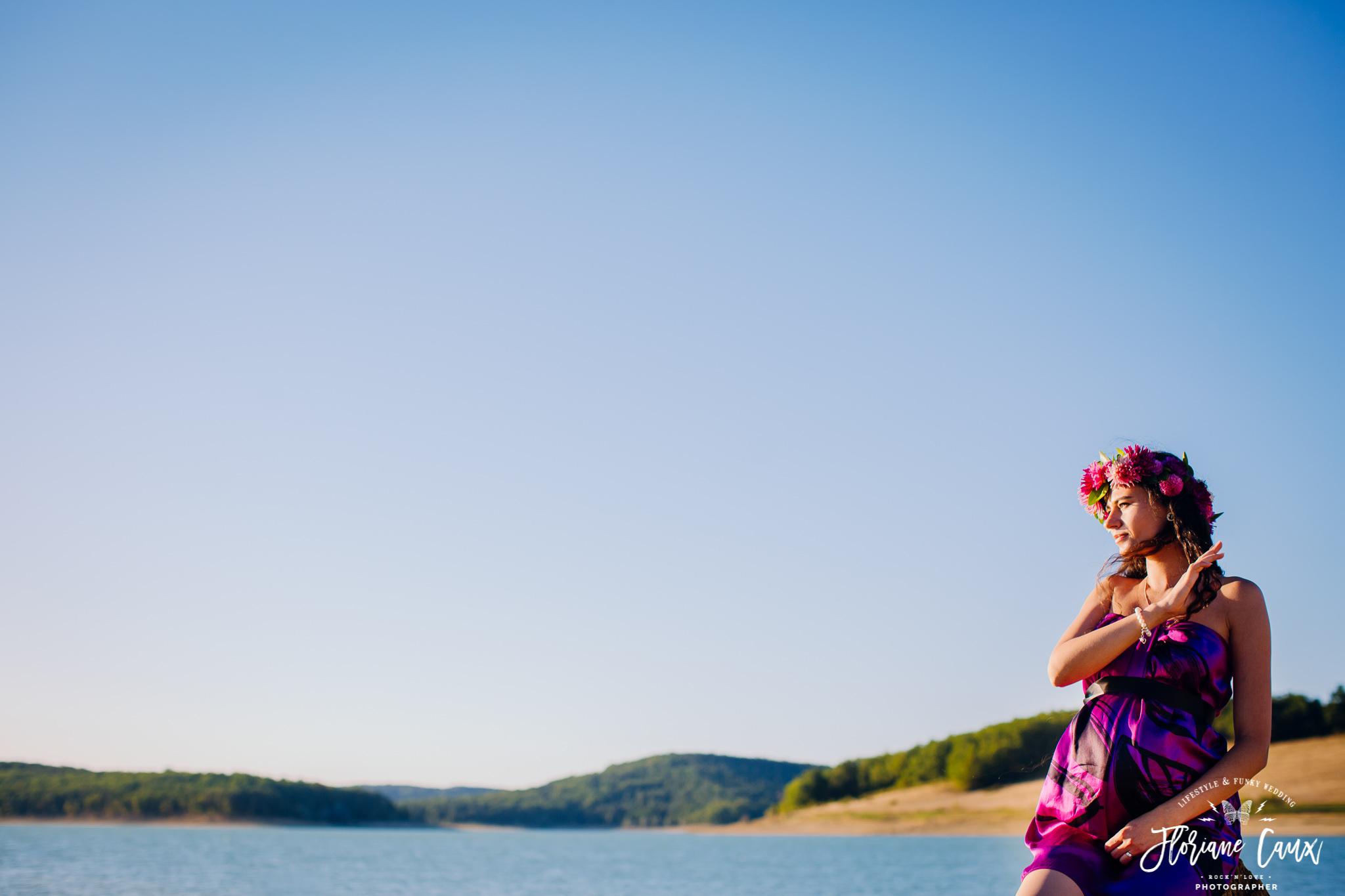 photo grossesse lac de montbel