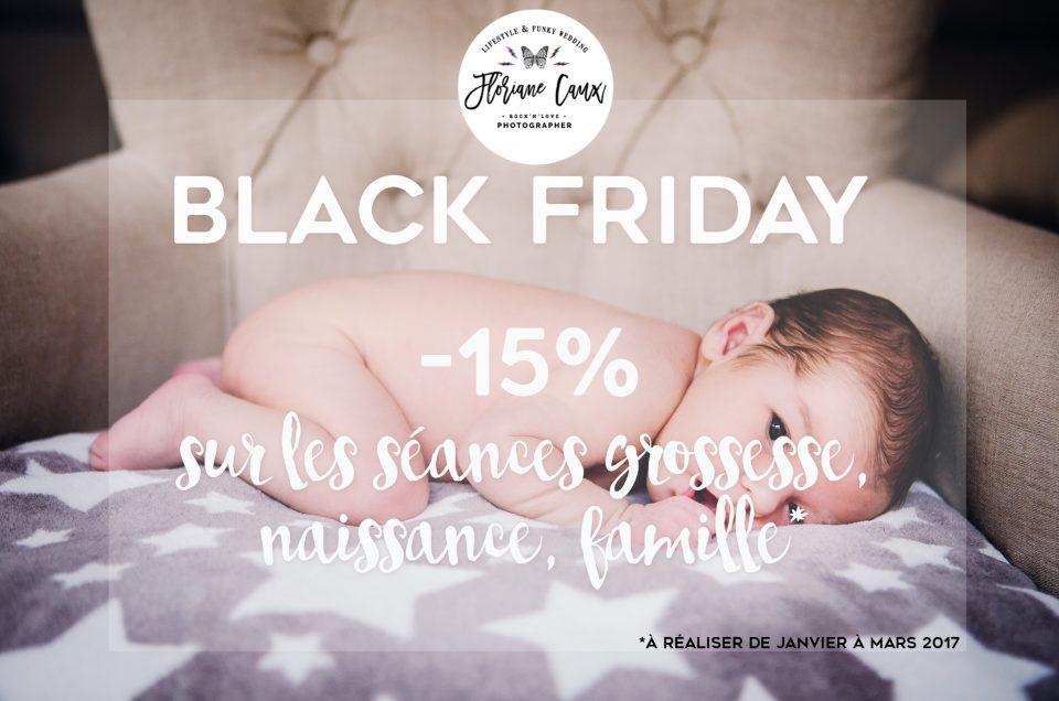 BLACK FRIDAY -15% sur les séances grossesse, naissance et famille