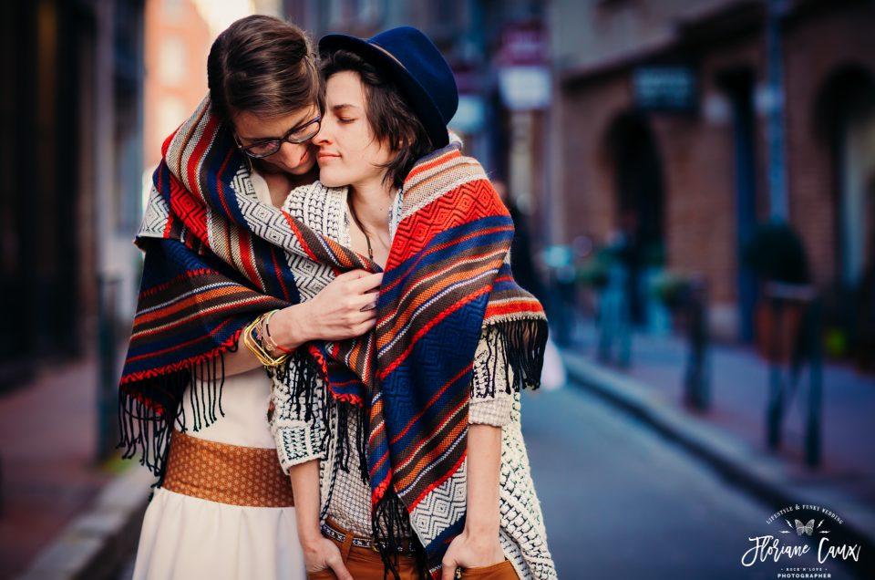 {Mariage Folk au Capitole de Toulouse et Raclette Party} Amélie & Myrtille