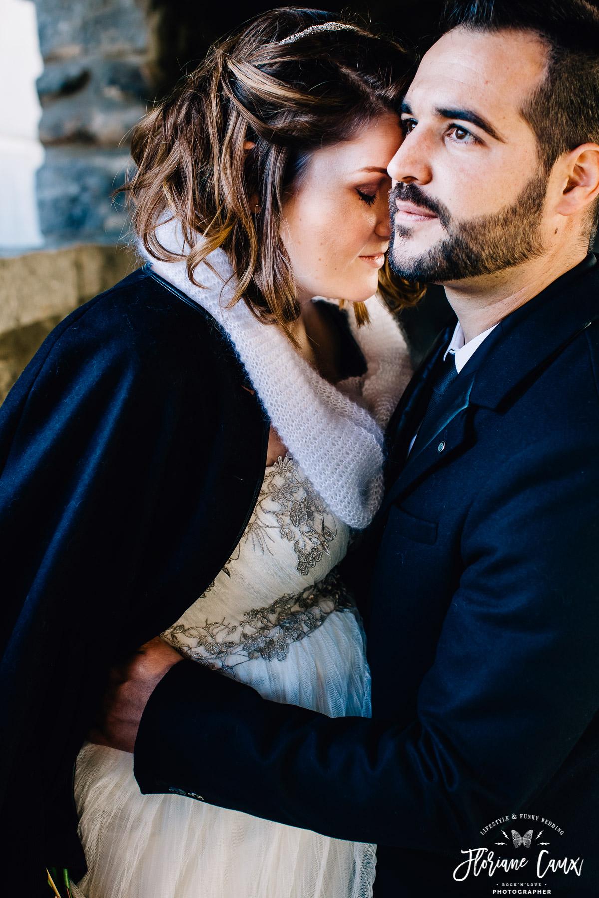 photo de couple mariée enceinte de 5 mois