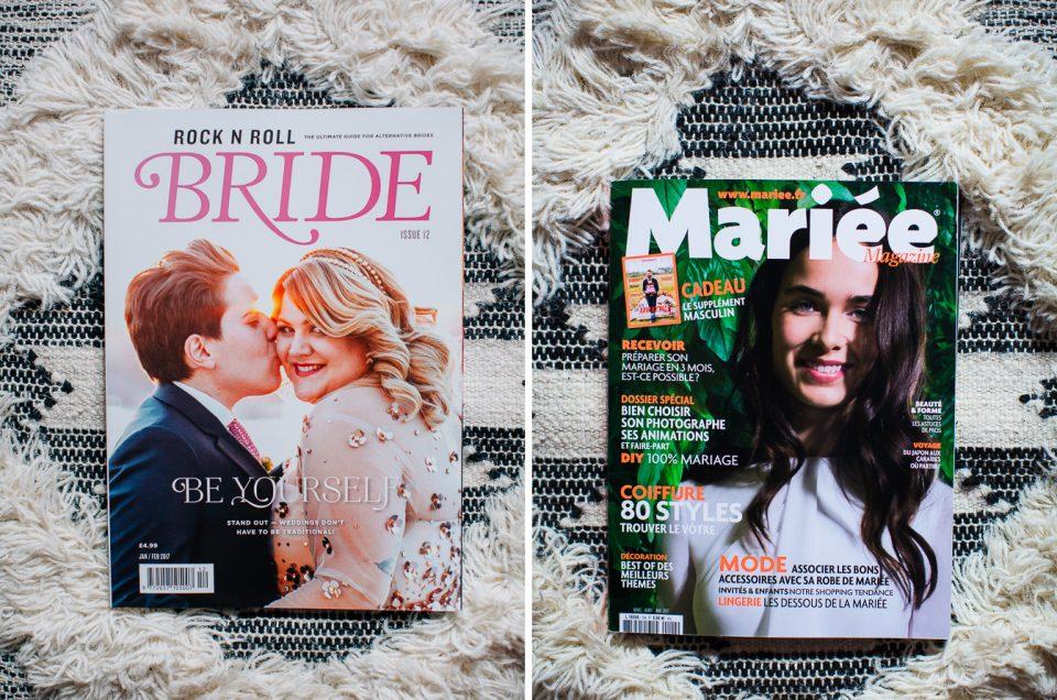 {News} Publication magazines - Rocknrollbride + Mariée Mag