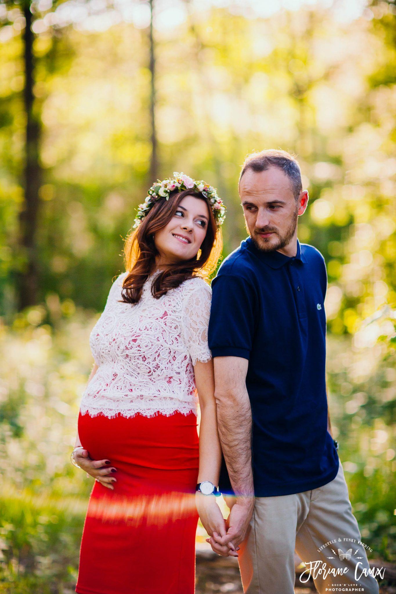 séance couple photographe grossesse toulouse et ariège