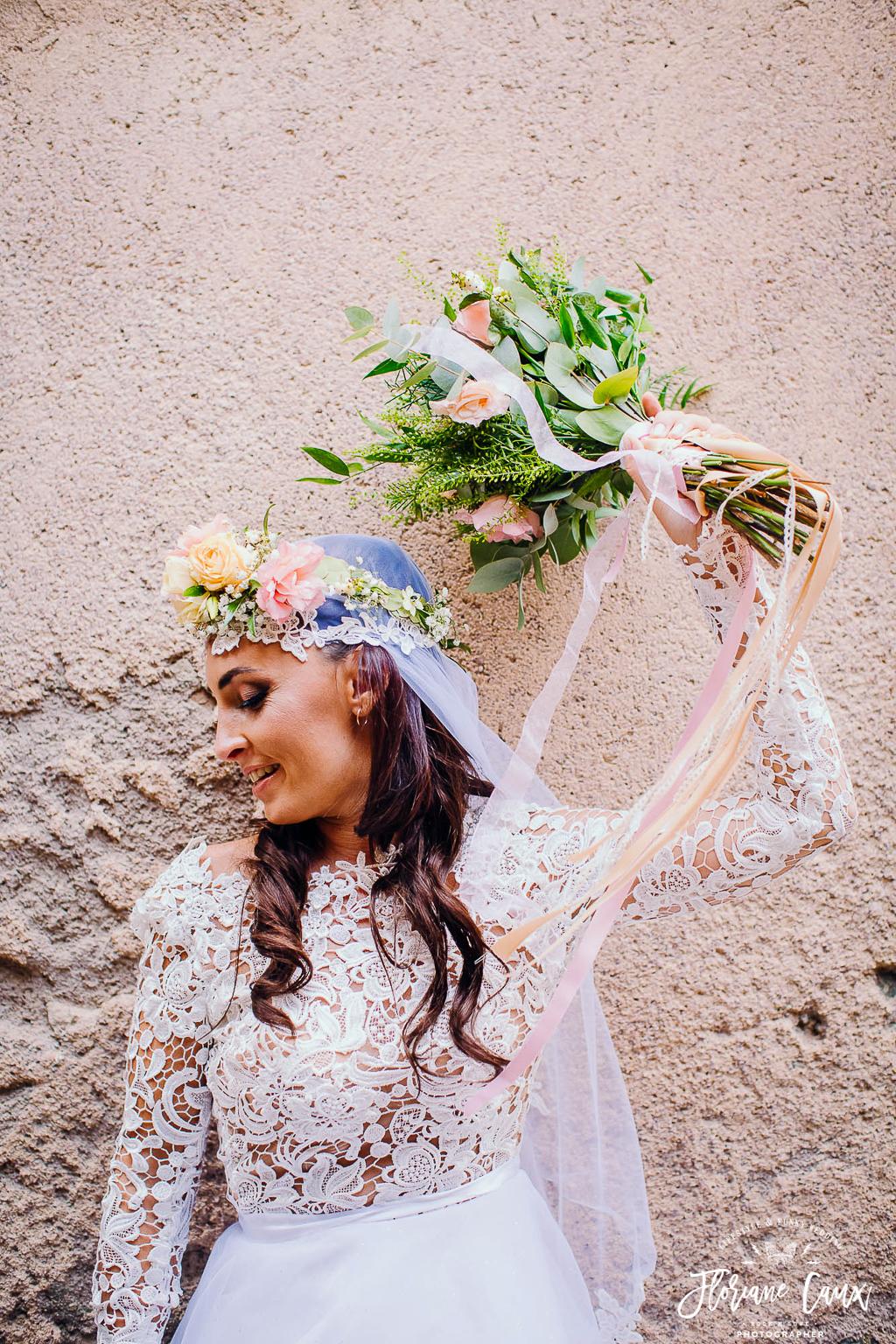 funky bride corsica wedding