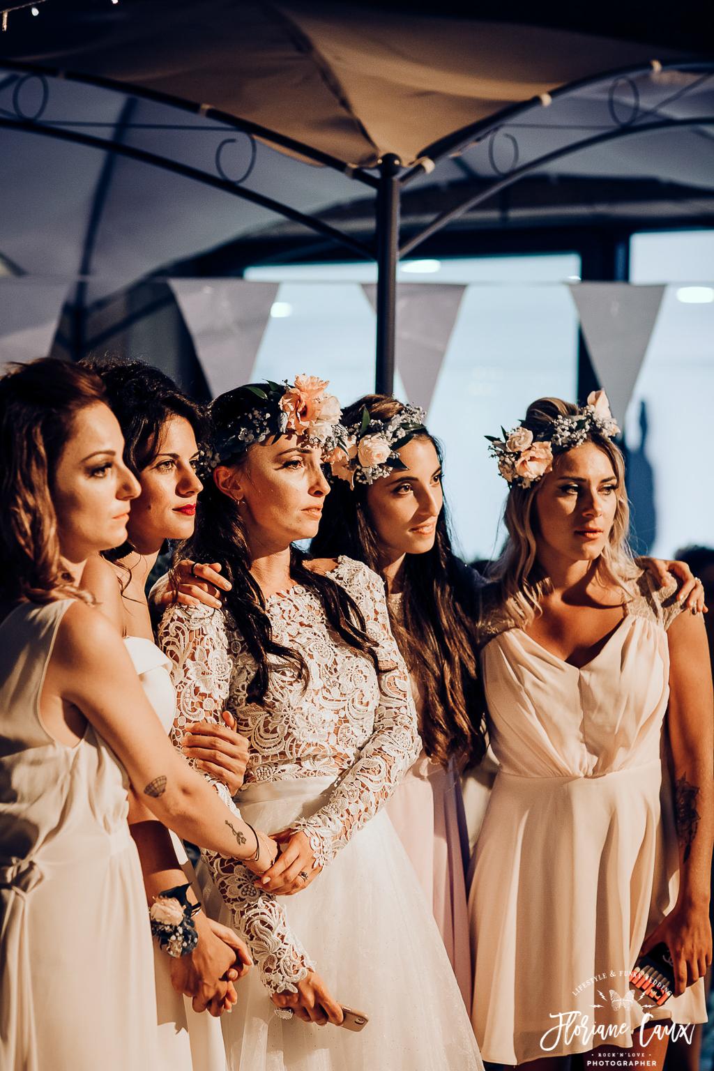 mariée et bridesmaids corse