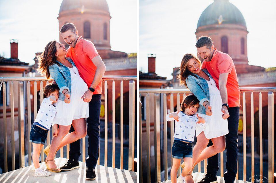 {Séance photo famille à Toulouse} Caroline, Olivier & Elisa